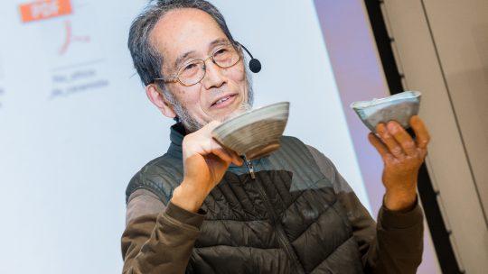 Na terceira palestra do Chawan Project, a beleza da obra de Akinori Nakatani